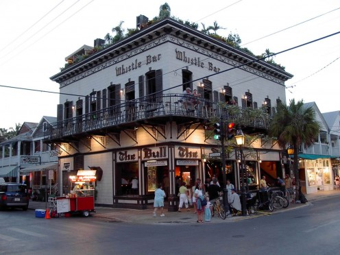 """Duval Street's world famour restraunt and saloon """"The Bull & Whistle""""."""