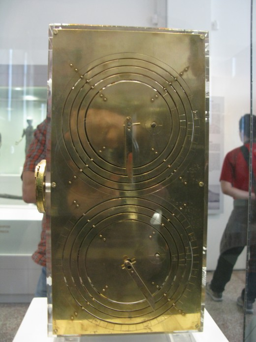 Back  View of Re-Constructed Antikythera Mechanism