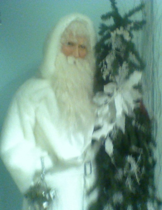 A very white Father Christmas