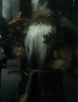Father Christmas of children, with a sack full of toys