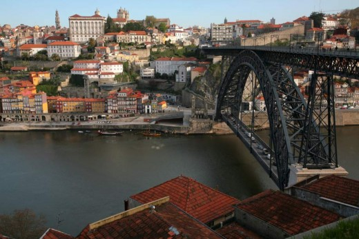 View across the Douro to Porto