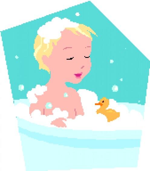 Wesley's bath.