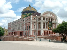 The Amazon Theatre,in Manaus, the capitalcity of Amazon state, in Brazil.