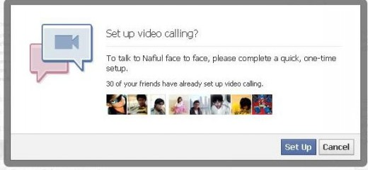 Facebook video chat setup