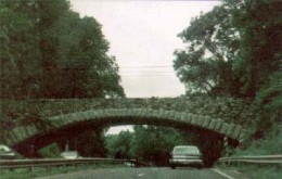 One of many architecturally unique bridges on Merritt Parkway