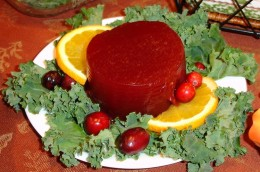 Jellied cranberries 100 calories for average slice.