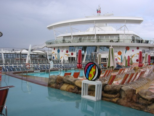 Zero entry pool, like having the beach on board ship with waves and everything.
