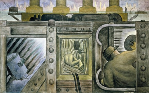 I paint what i see a ballad of artistic integrity by e b for Diego rivera mural at rockefeller center