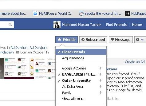 Fb close friend option