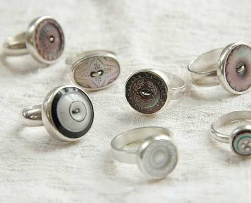 Button Rings From Red Chair Antiques Shop