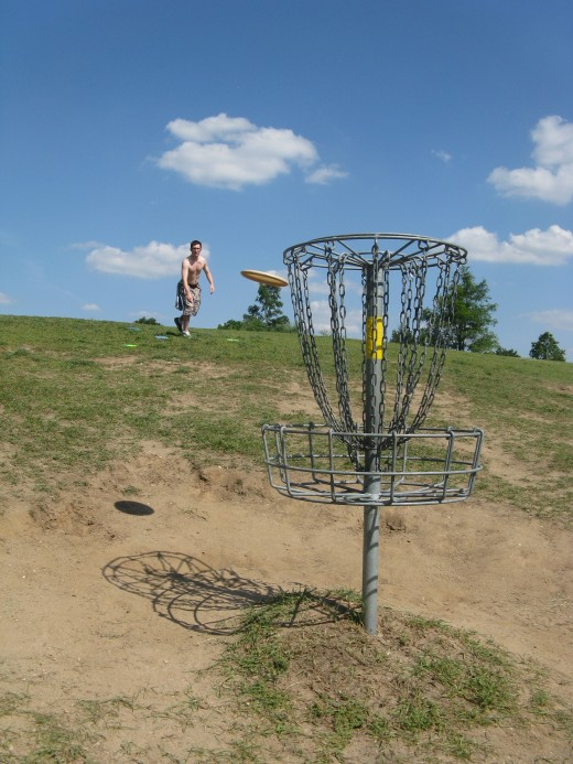 Disc golf putting photos are easy to set up and fun to take!