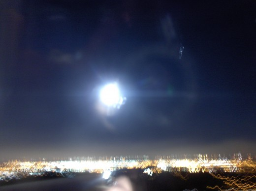 Memphis at moon rise