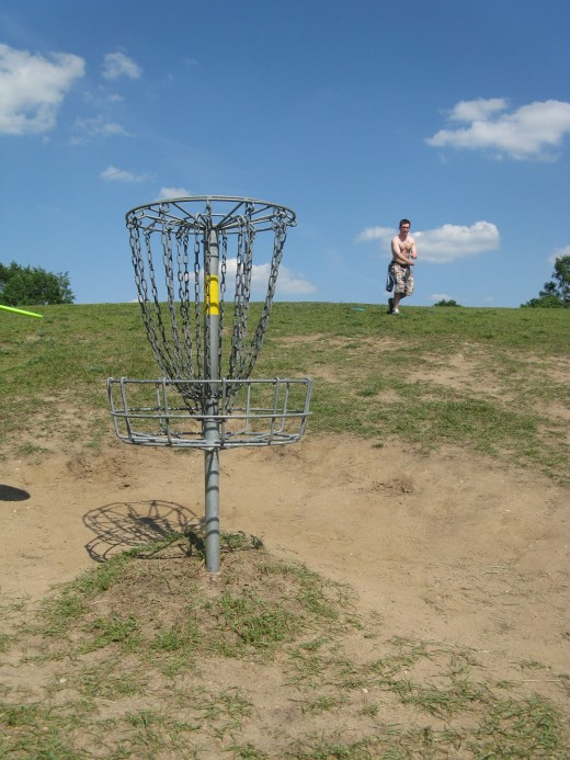 Disc Golf Putting - When we're taking putting photos, we use the whole bag.