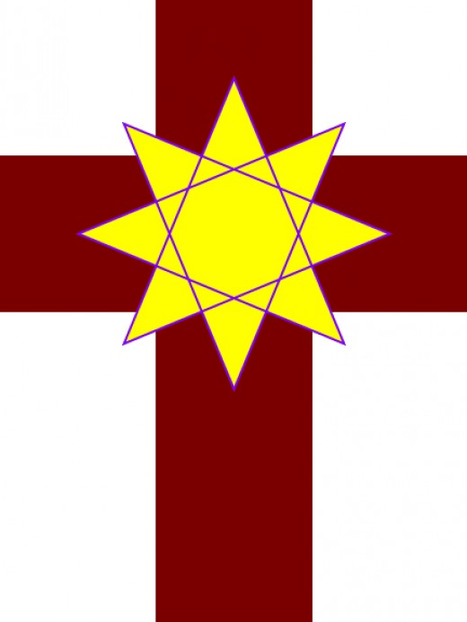 The passion cross and eight pointed star together are one of the symbols of Christian Magic as I learned the art.
