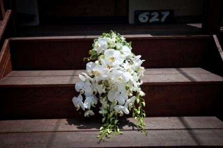 I made this wedding bouquet for a friend.