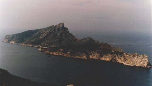 Dragonera Island, used as the setting of the film. (In reality, it's off the coast of Spain...shh!)