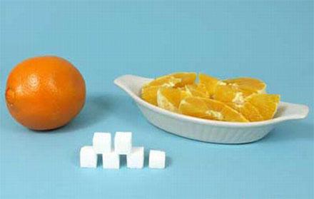 1 large orange = 23g sugar