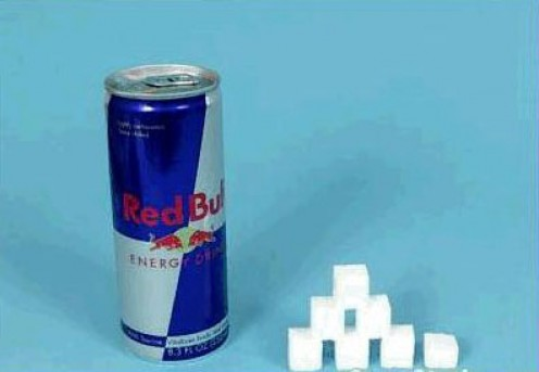 1 can Red Bull = 26g sugar