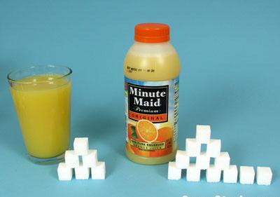 Small bottle OJ = 29g sugar