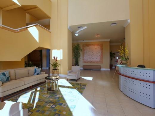 Lobby of Bel Mare condos