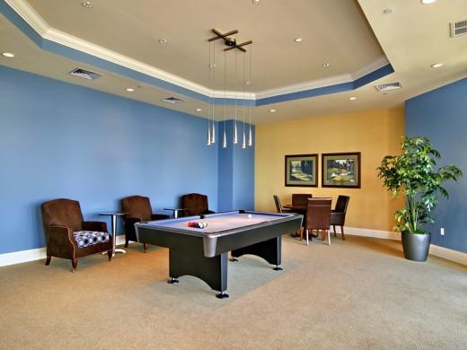 Entertainment room of Bel Mare condos in Palmetto, Florida