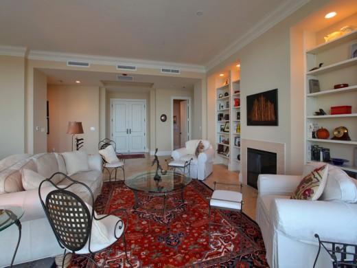 Family room of 140 Riviera Dunes Way, #1401, Palmetto, Florida