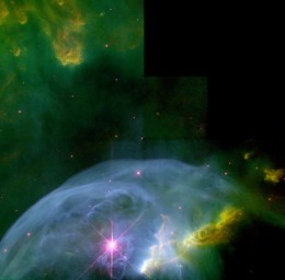 Another Image of the Bubble Nebula