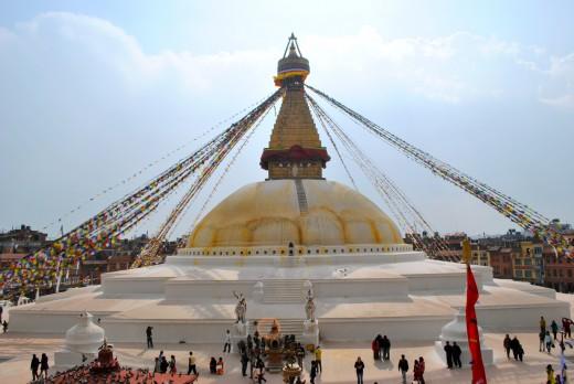 Bodnath Stupa - A buddhist temple in Kathmandu.