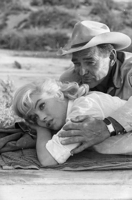 """Clark Gable and Marilyn Monroe in """"The Misfits"""""""