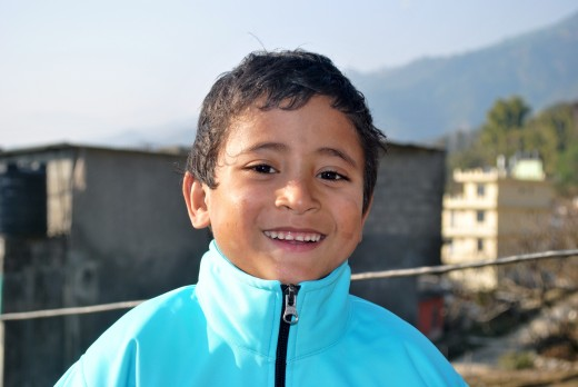 Omry, one of the boys in the orphanage.