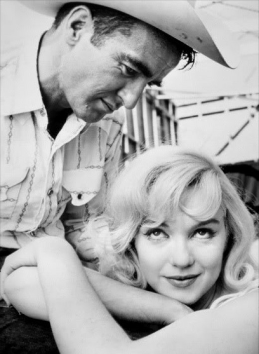 "Montgomery Clift and Marilyn Monroe in ""The Misfits"""