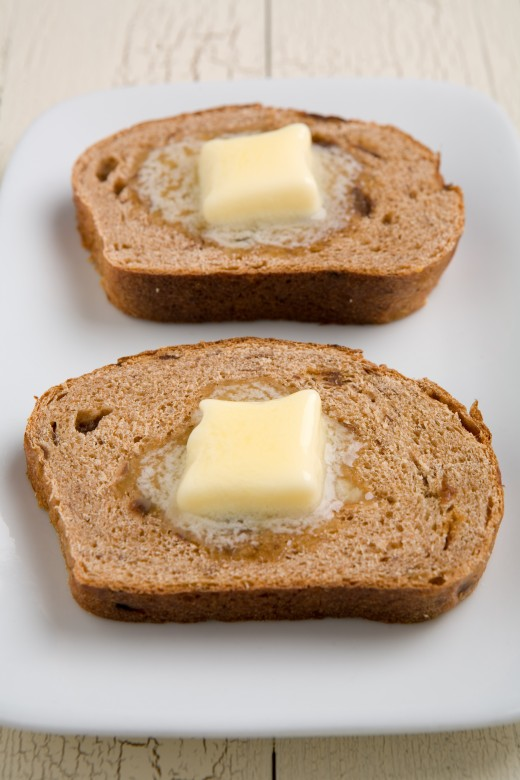 Buttered toast! (brown bread)