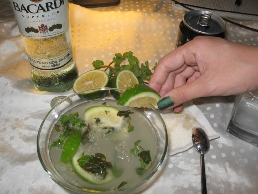 To make it more presentable, garnish it using mint leaves and a slice of lime.