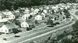 An old photo of Kopperston Coal Camp.