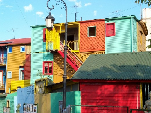 Houses in La Boca, Argentina