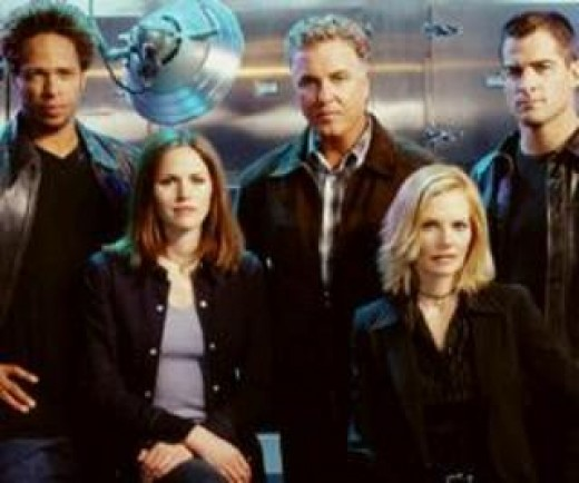 "The original cast of ""CSI"" before all of the changes."