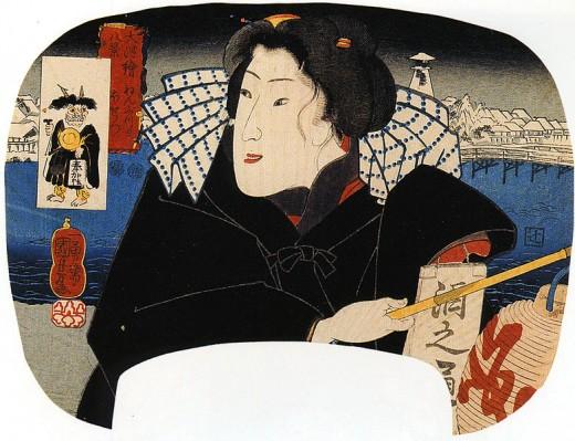Artist: Kuniyoshi Utagawa, Japan, Japanese Woman, Public Domain, via Wikimedia Commons