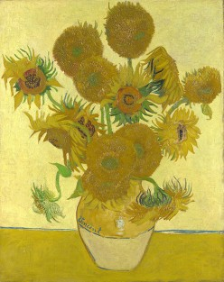 One of the many versions of Sunflowers, that Van Gogh did.