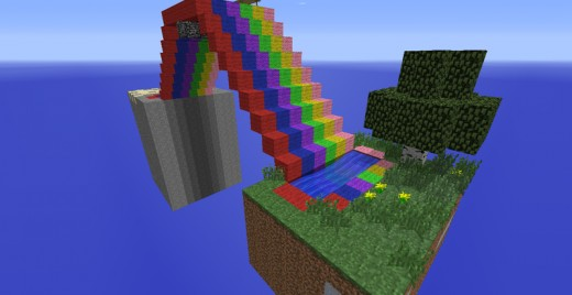 Over the rainbow... there might be creepers.