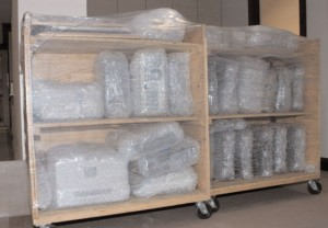 Protect your tools and equipment from dust and possible damage by wrapping them with bubble wrap before storing them away.