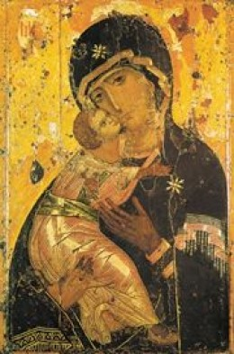 """""""The Mother of God, upon seeing this image, exclaimed, """"Henceforth, all generations shall call Me blessed. The grace of both My Son and Me shall be with this icon."""""""