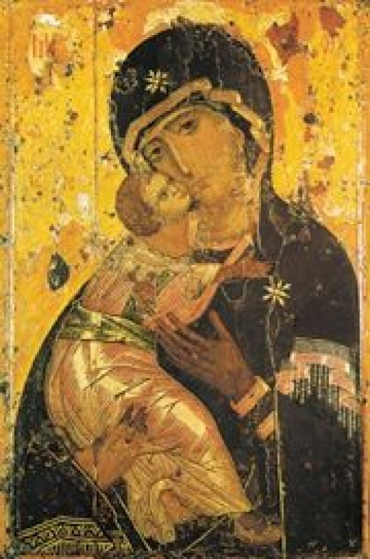 """The Mother of God, upon seeing this image, exclaimed, ""Henceforth, all generations shall call Me blessed. The grace of both My Son and Me shall be with this icon."""