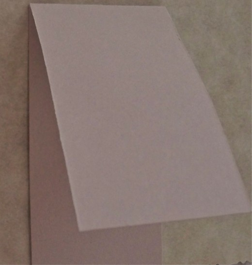 Place Card Easel Piece Should Be Folded In Half Lengthways.