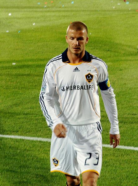 David Beckham in LA Galaxy.