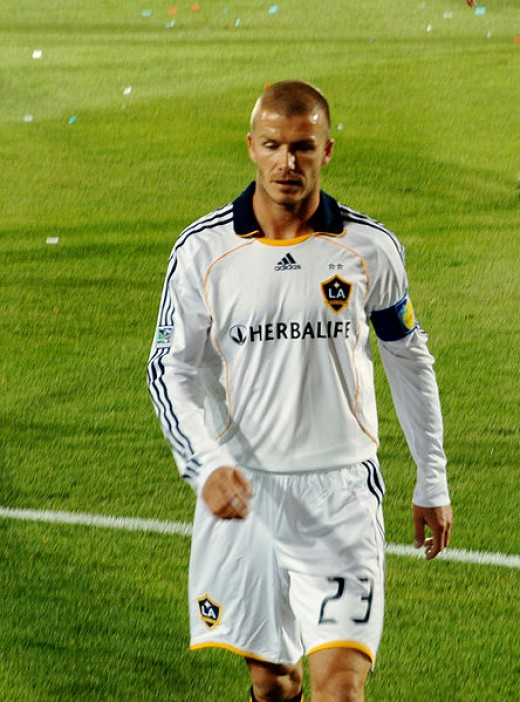 David Beckham in LA Galaxy.