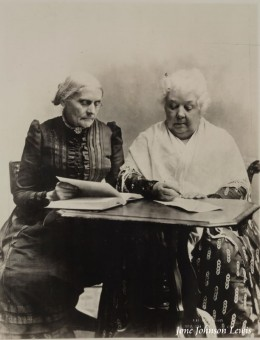 Susan B. Anthony and Elizabeth Stanton, Women's Suffragists