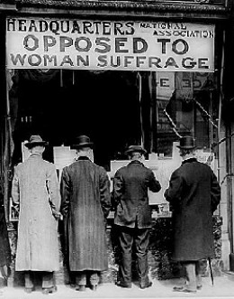 Suffragists fought an uphill battle because they had no power to express their political views.