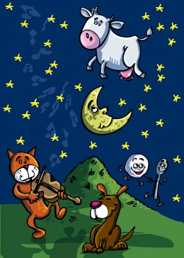 The cow jumped over the moon...
