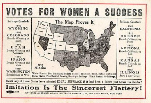 Wyoming was the first state to grant the vote to women.