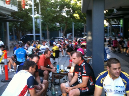 IMAGE4 Morning Coffee amongst Lycra clad cyclists 5.30 am South Brisbane